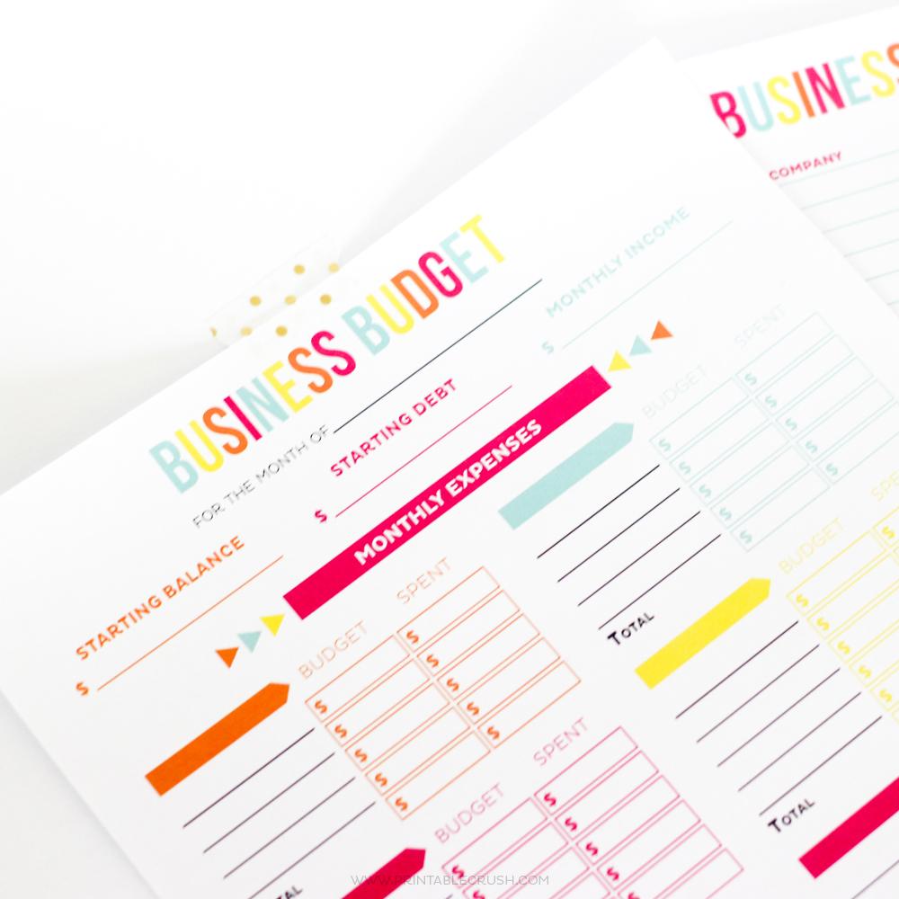 Editable Business Budget Worksheets - Printable Crush