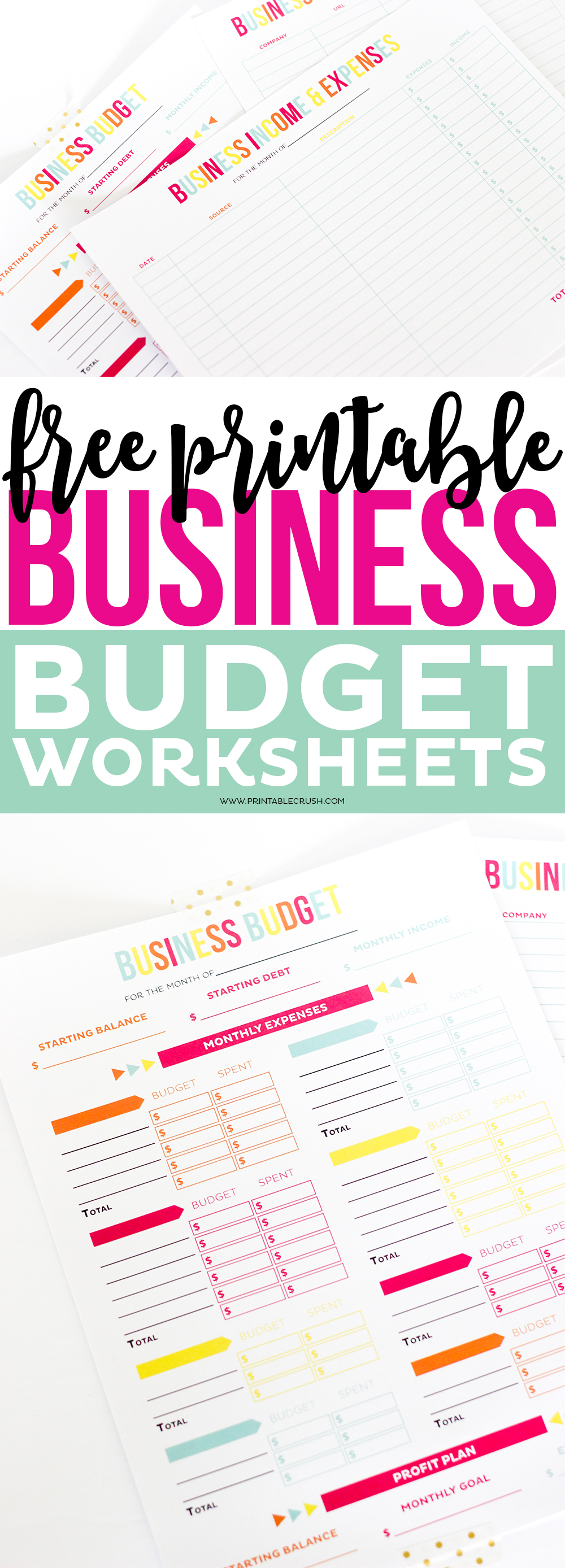 FREE Printable Business Budget Worksheets Printable Crush – Free Online Budget Worksheet
