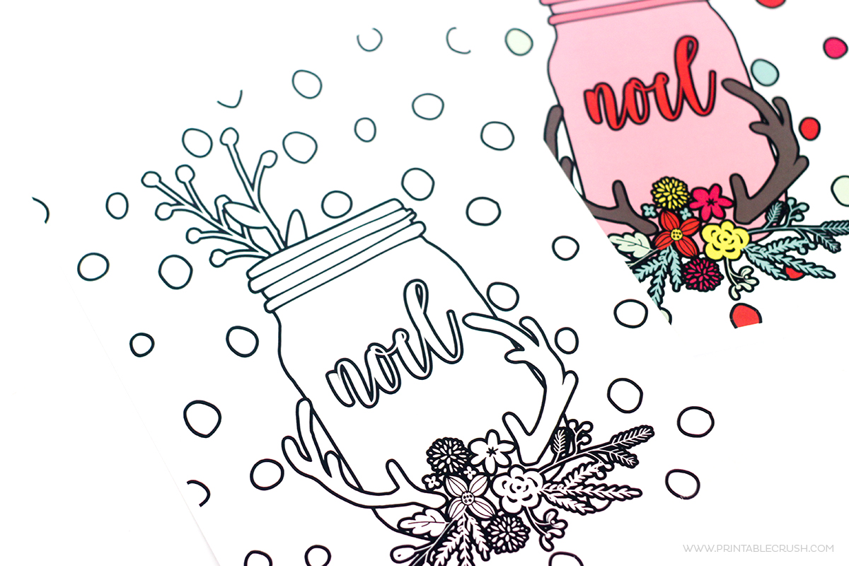 Learn to Create Christmas Coloring Pages in Photoshop - Printable Crush