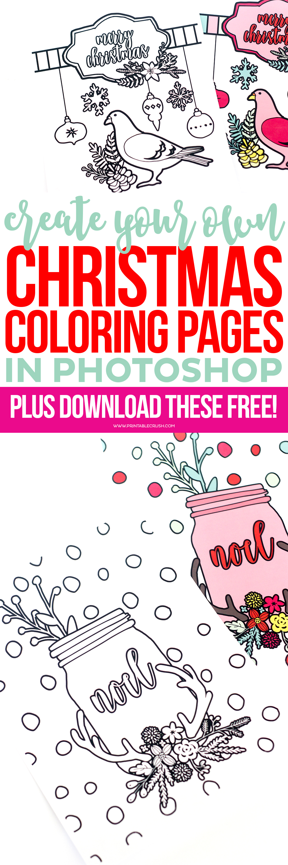 Learn to create christmas coloring pages in photoshop for How to make a coloring book page in photoshop