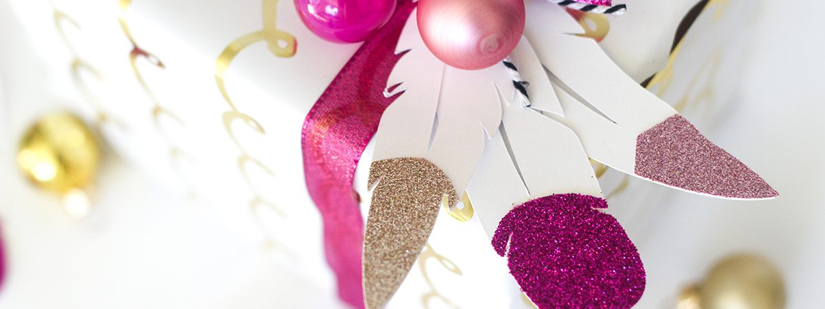 FREE Feather Gift Tag Cut File w/Beautiful Gift Wrapping Idea