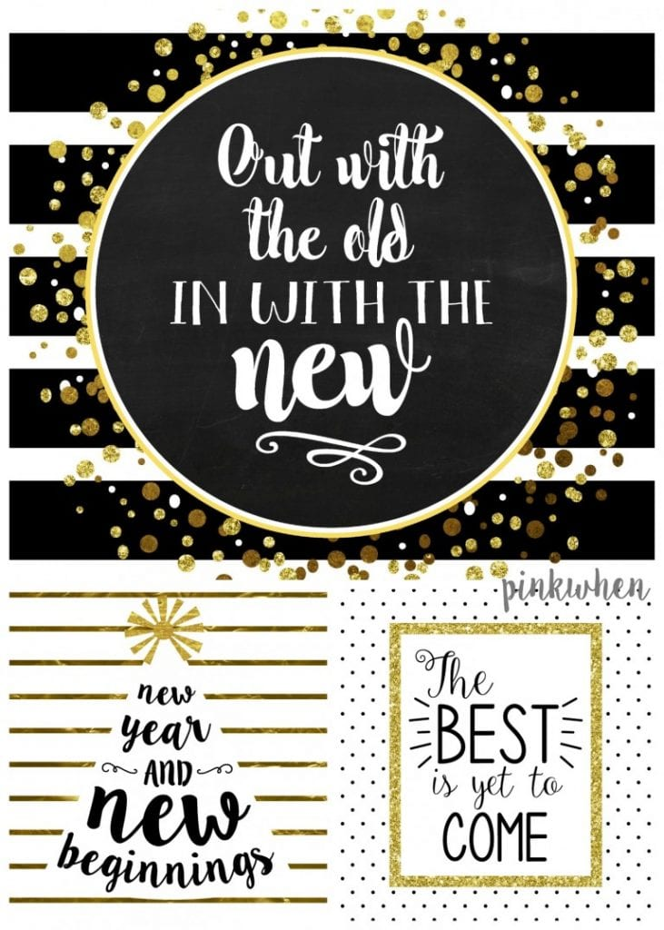 21 Chic & FREE New Year Printables & Party Decor Ideas ...