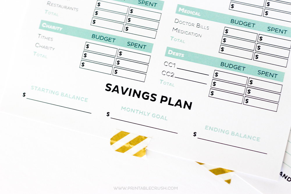 Simple Free Printable Budget Worksheets - Printable Crush