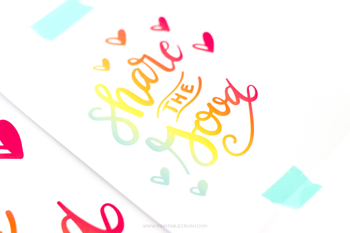 Share the Good Printable Word Art