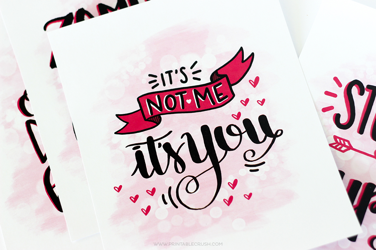 FREE Hand Lettered AntiValentine