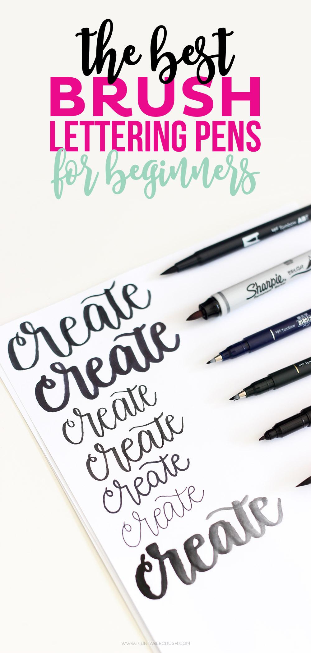 Hand Lettering Paint Brush