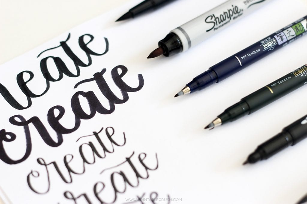 The BEST Brush Lettering Pens for Beginners