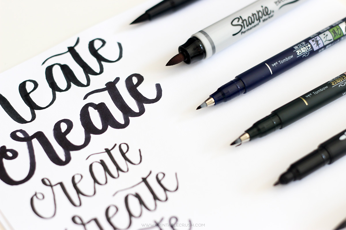 The best brush lettering pens for beginners printable crush