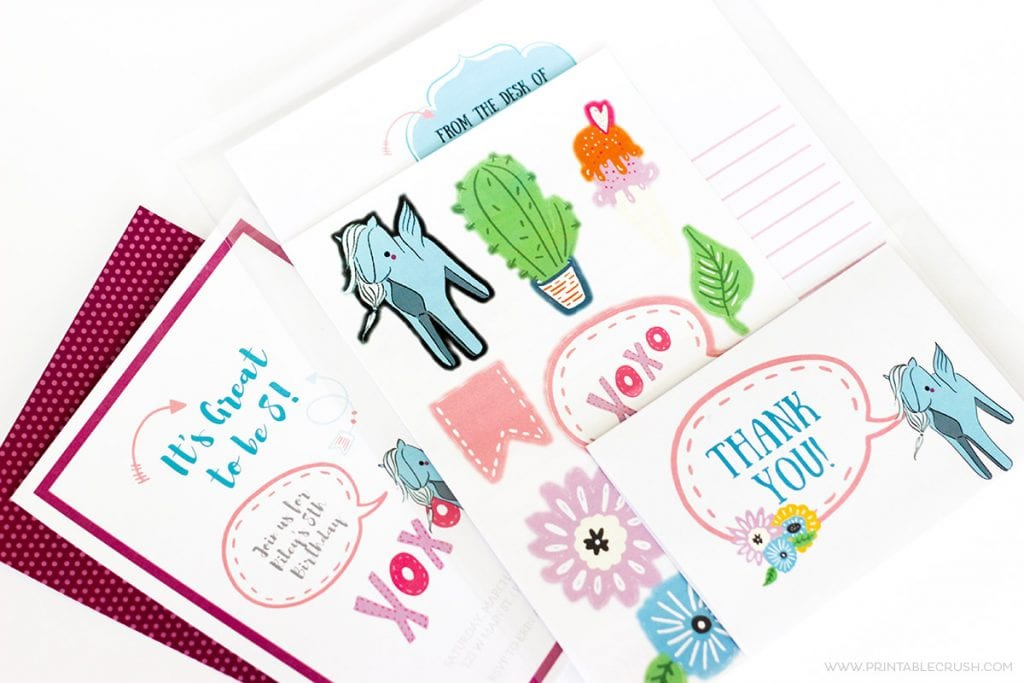 Make Your Own Stickers and Stationery Party Favors