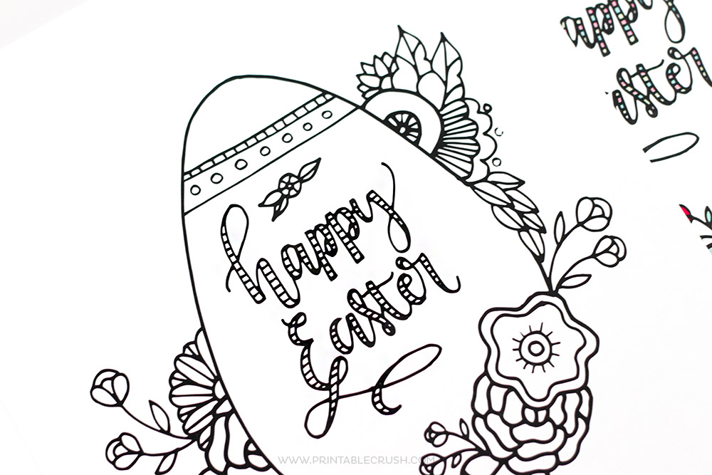FREE Printable Easter Coloring Page - Printable Crush