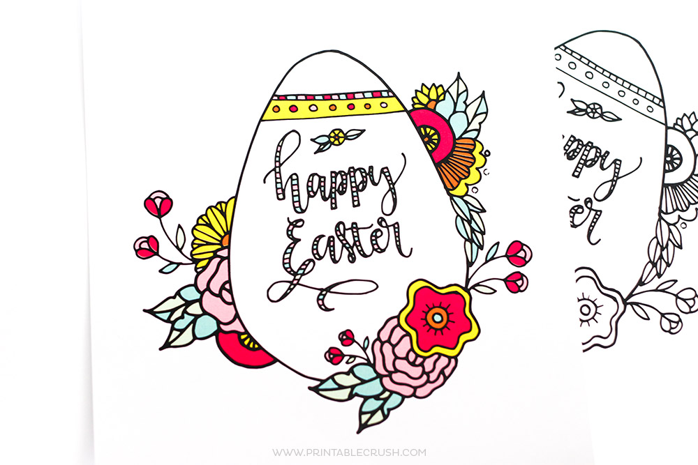 Make Your Easter More Colorful With This Gorgeous FREE Printable Coloring Page Would