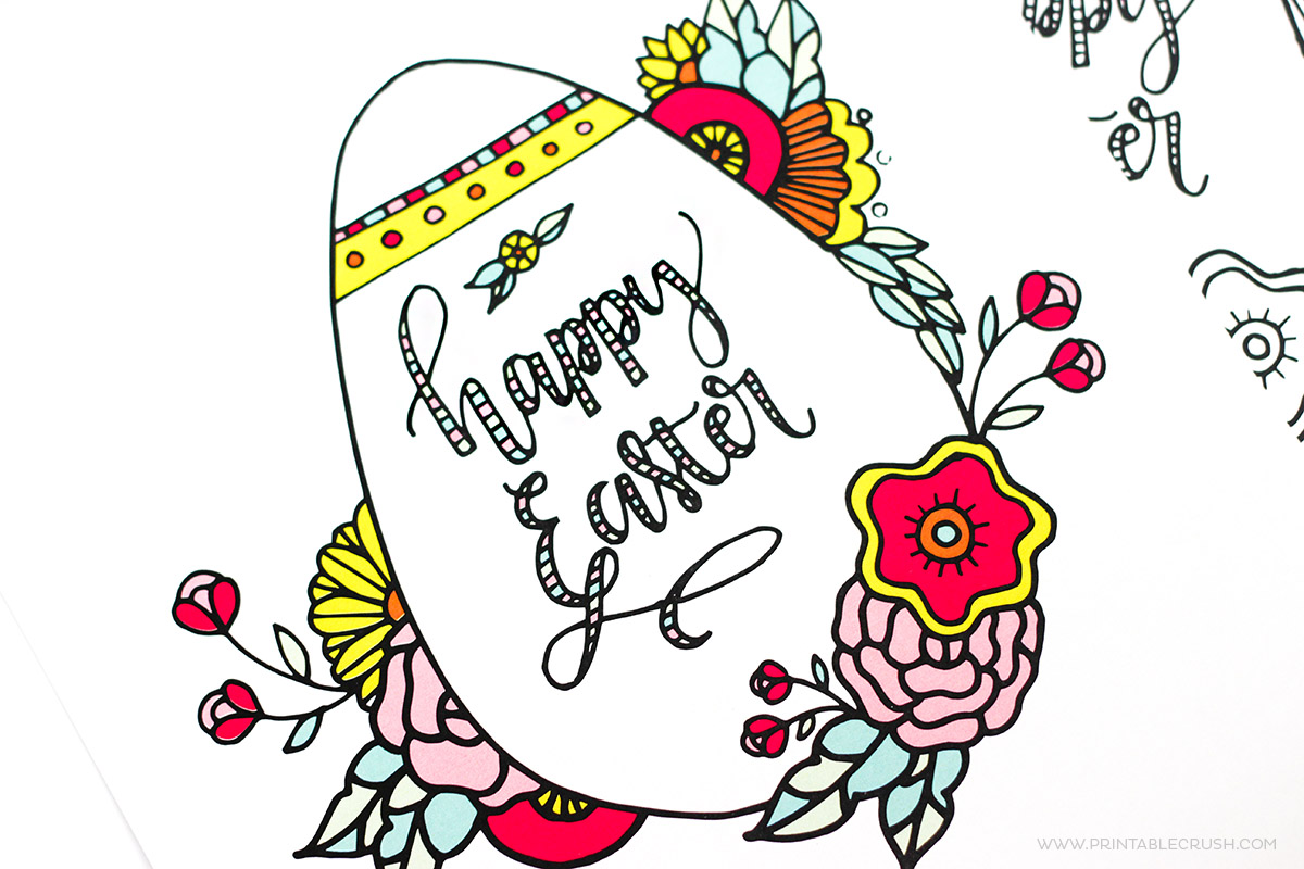 how to make hand lettered and watercolor easter eggs printable crush
