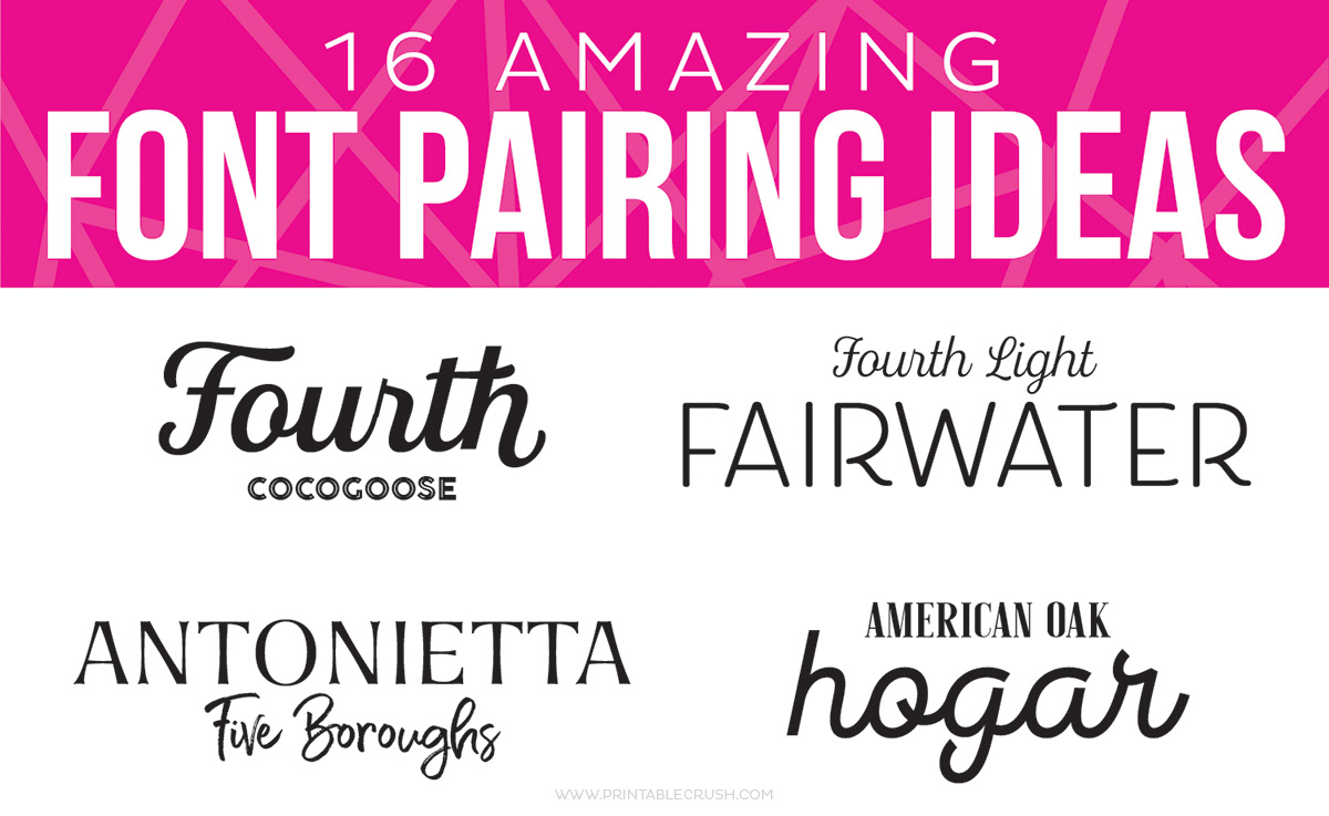 16 amazing font pairing ideas for designers