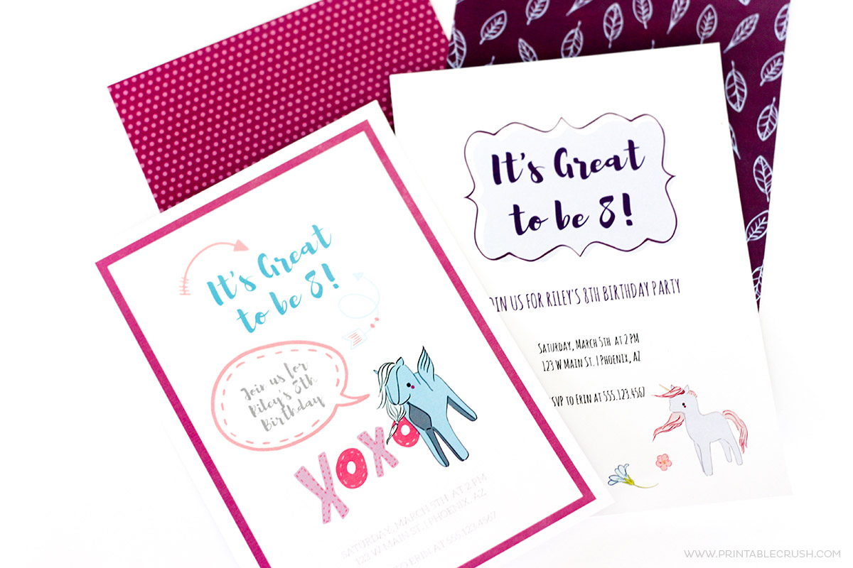 Learn to Create Custom Invitations in Canva using Premade Graphics (like these from DesignCuts). It's SO easy and you'll love the different designs you can make!
