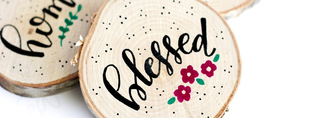How to Make Hand Lettered Wood Coasters