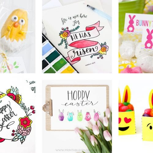 These are my favorite Easter Printables and Tutorials to help you plan for Easter! It includes an Easter coloring page, egg decorating ideas, and lots more!