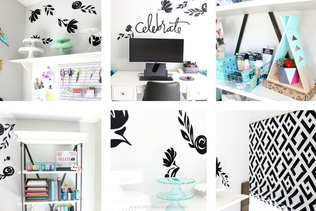 Craft Room and Home Office Makeover