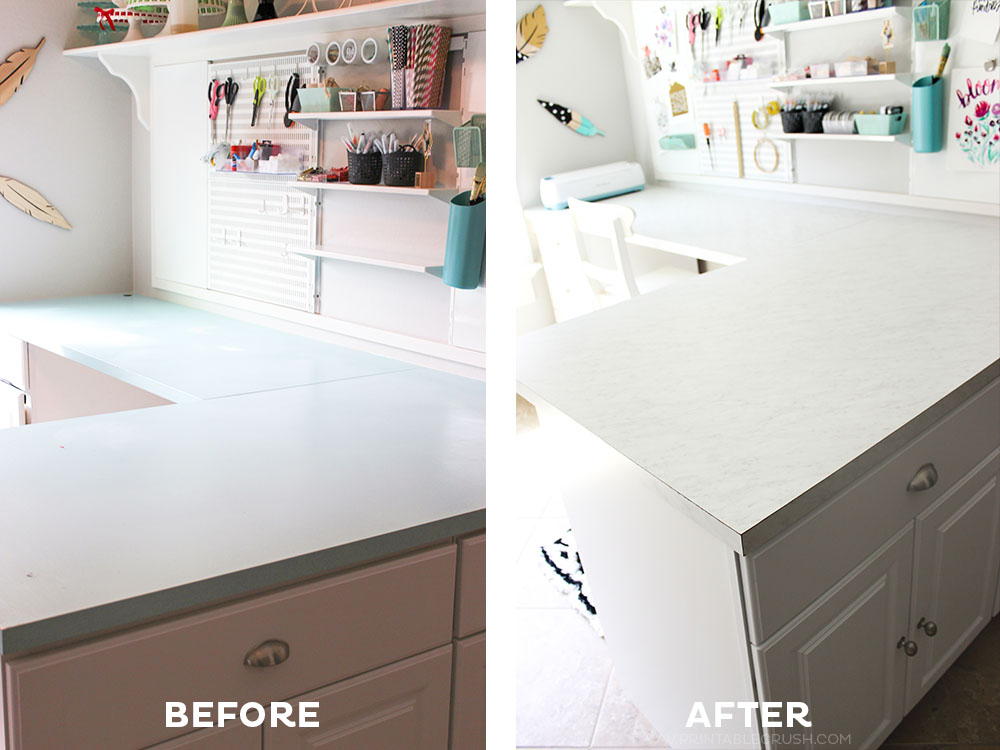 DIY Laminate Countertops for a Home Office