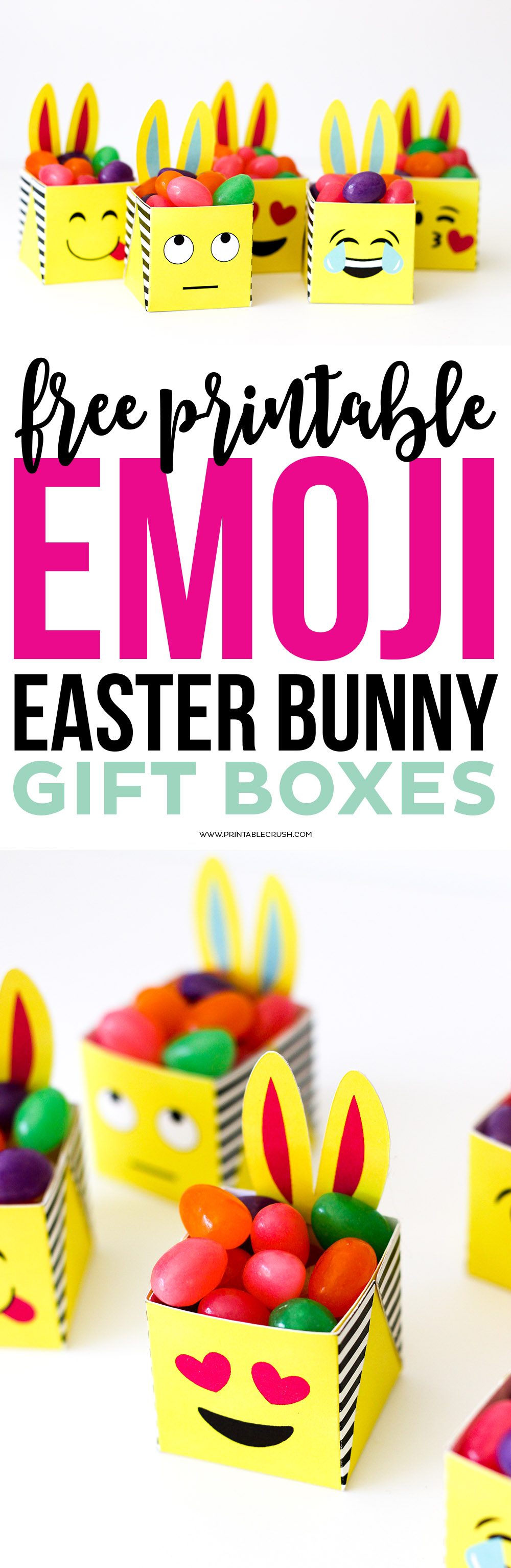 Free printable emoji easter bunny boxes printable crush these free printable emoji easter bunny boxes are the cutest little boxes youve ever negle Image collections