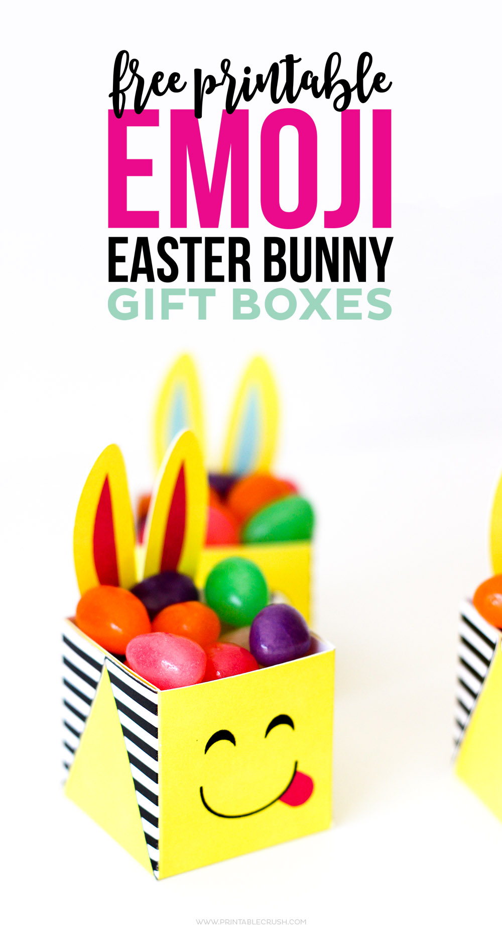 These FREE Printable Emoji Easter Bunny Boxes are the CUTEST little boxes you've ever seen. Your kids will LOVE getting these from the Easter Bunny!