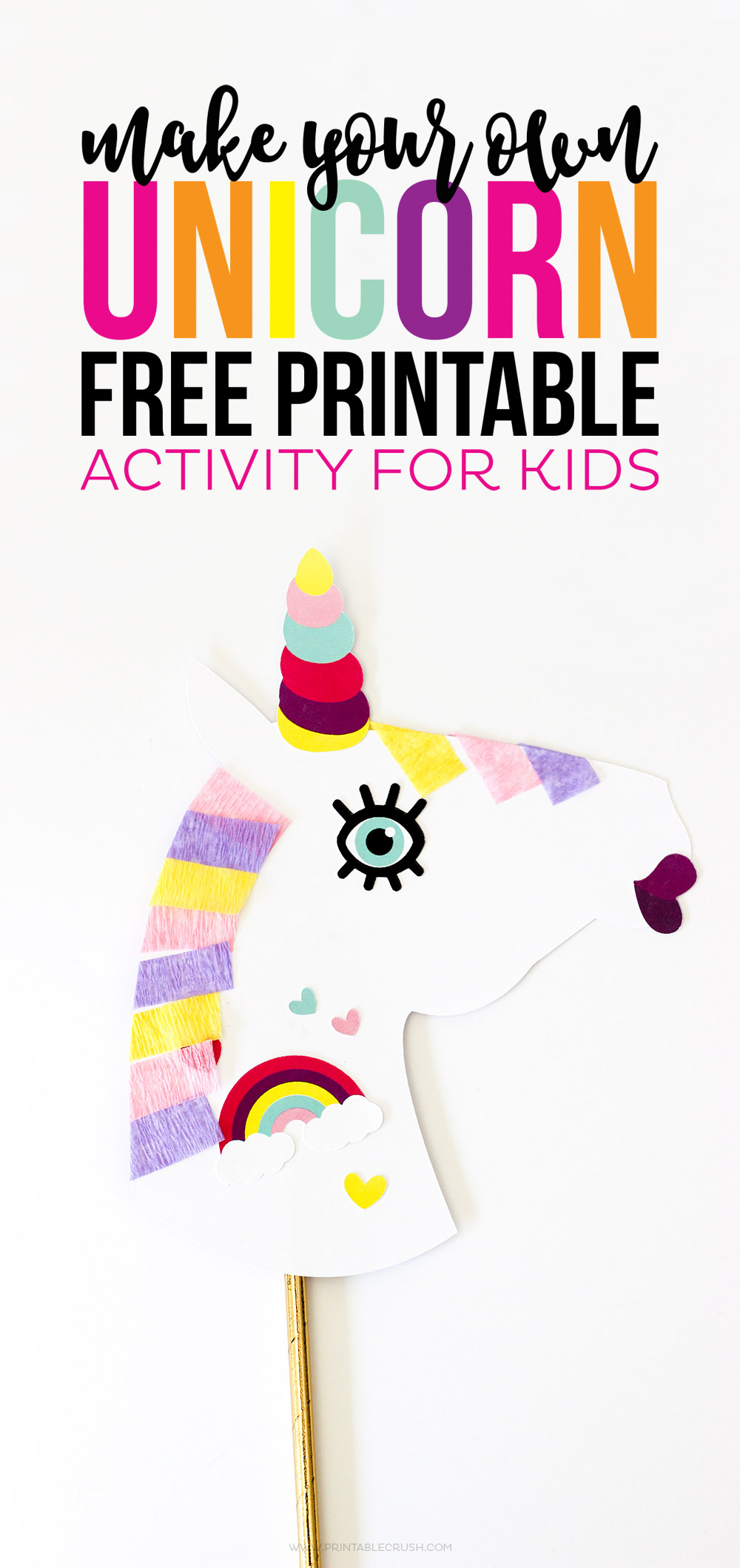 make your own unicorn free printable is the perfect activity for kids that are home all