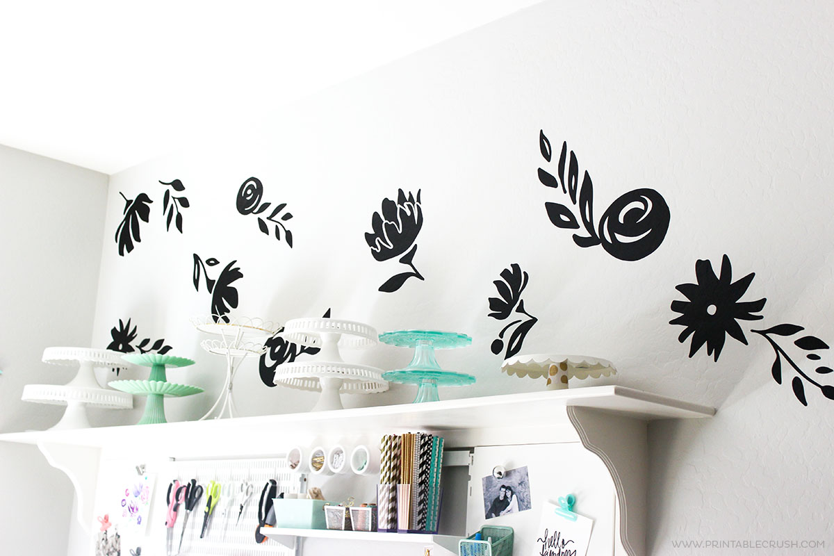 GIGANTIC Floral Vinyl Wall Decals