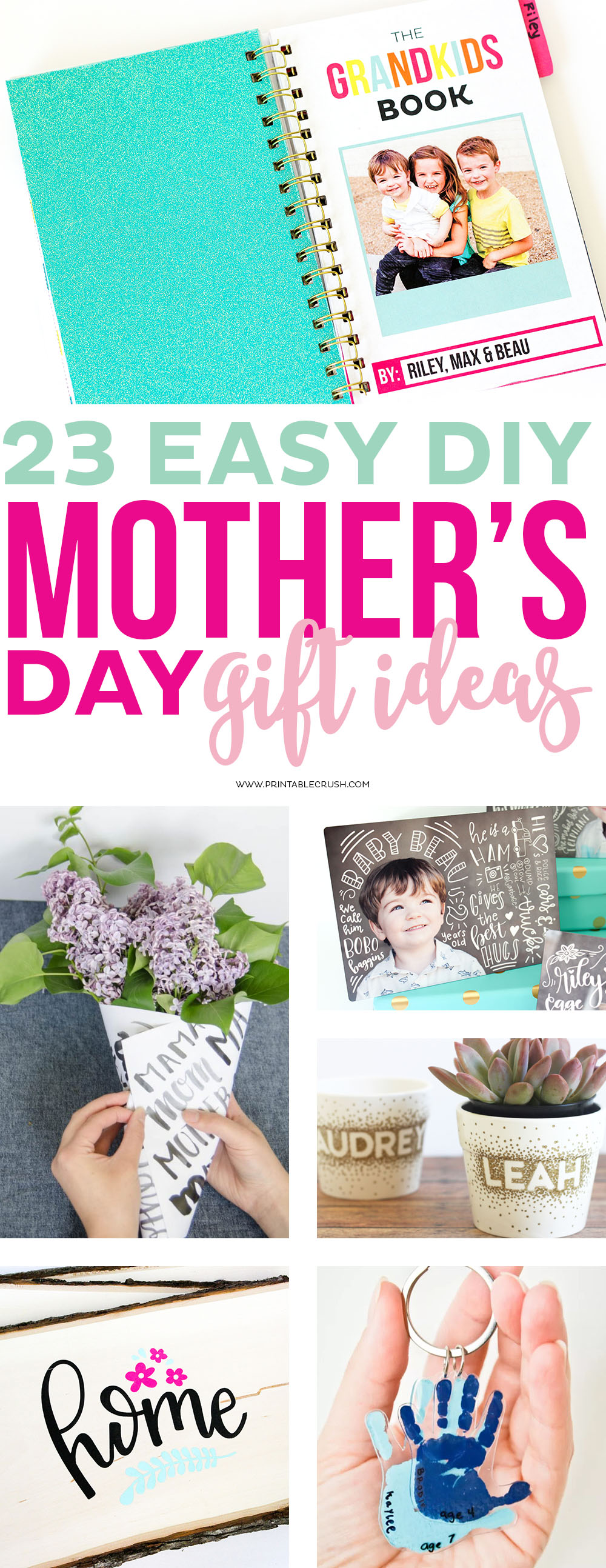 Mother's Day is coming up quick and I have put together a fabulous list of 23 EASY DIY MOTHER'S DAY GIFT IDEAS! These are perfect for mom and grandma!