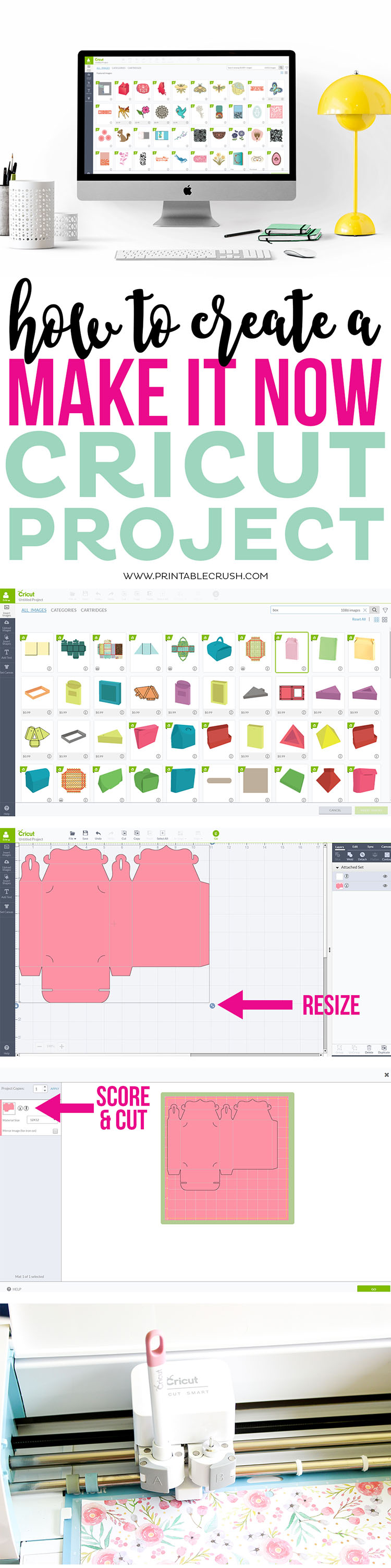Cricut Design Space has a HUGE library of amazing graphics. Use this tutorial to learn how to How to Create a Make It Now Cricut Project!