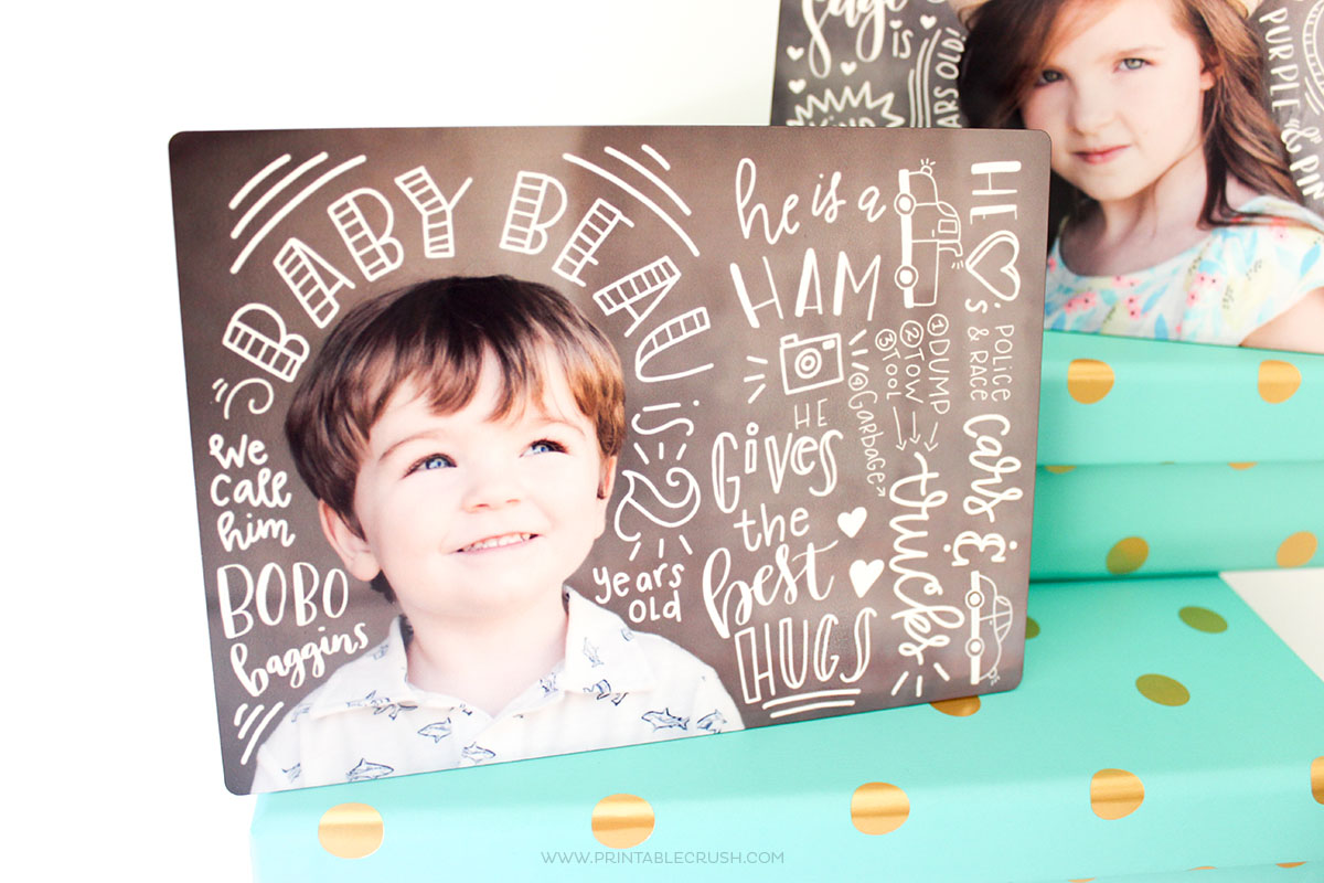 Hand Lettered Photos Mother's Day Gift Idea
