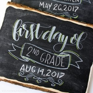First and Last Day of School Hand Lettered SVG Files