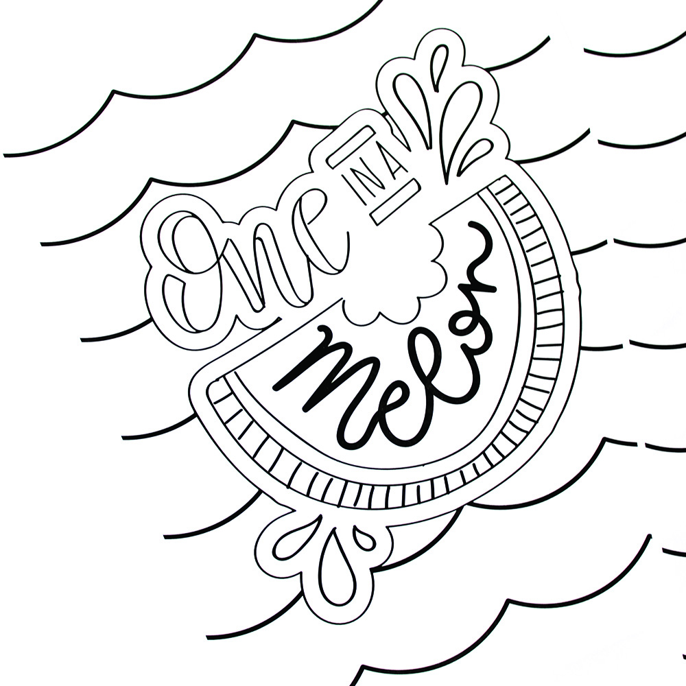 Hand lettered summer coloring pages printable crush for Free printable coloring pages summer