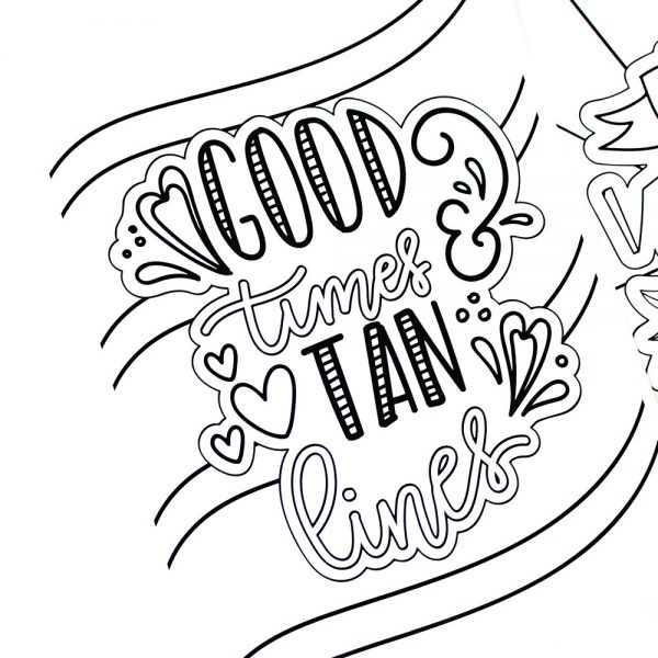 "This Summer Fun Coloring Pages pack includes 9 hand drawn and hand lettered designs that you can print out and color as many times as you like! It also includes 8""X10"" and 5""X7"" art prints that are already colored in with bright summer colors. The best part is that adults and children will love these amazing designs!"