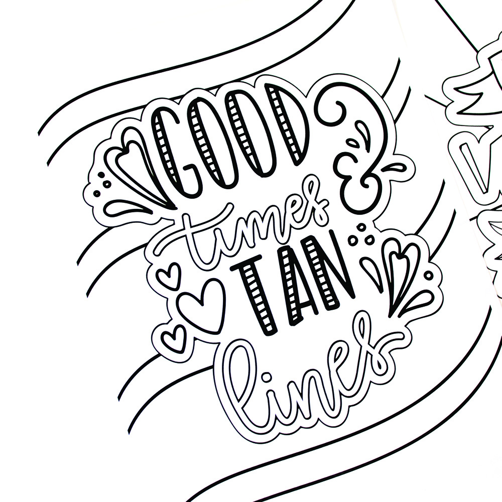 hand lettered summer coloring pages printable crush - Fun Coloring Sheets Printable