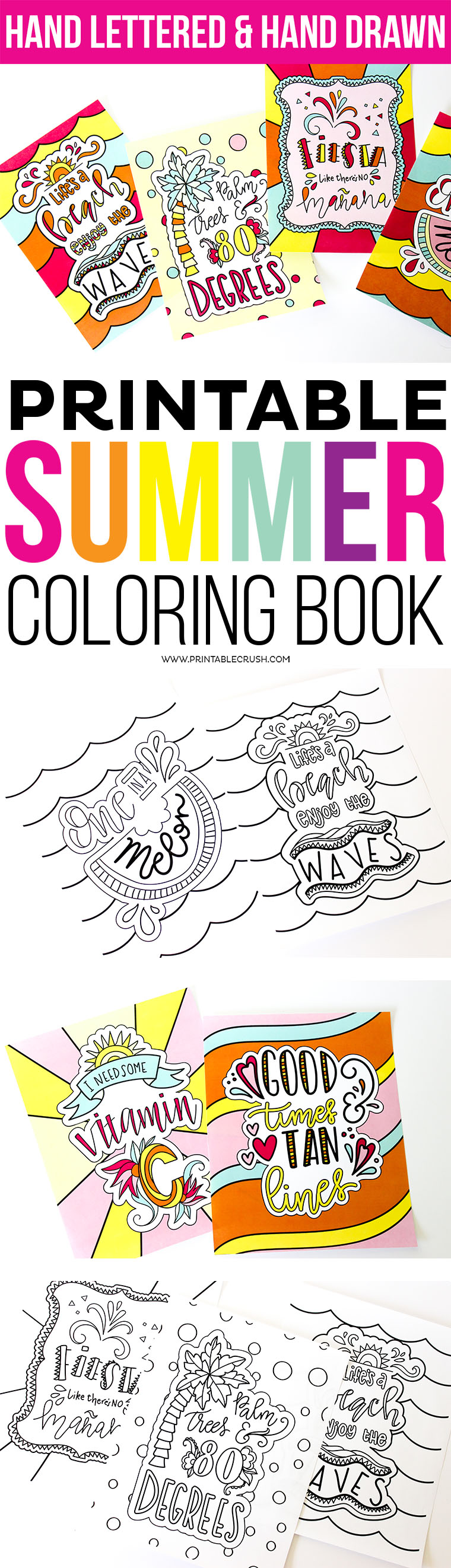 Summer is here coloring pages - Purchase The Coloring Pages Here