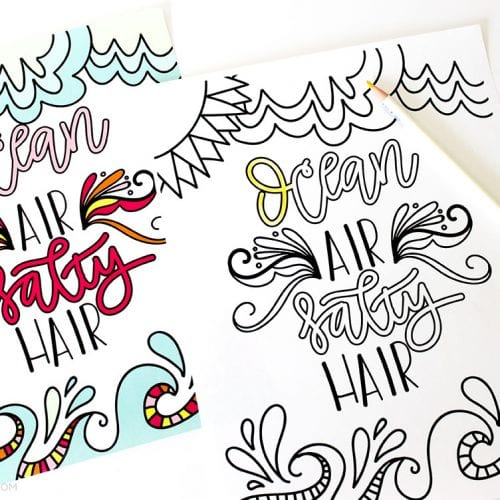 Download This Hand Lettered FREE Printable Summer Coloring Page To Enjoy Over And Again