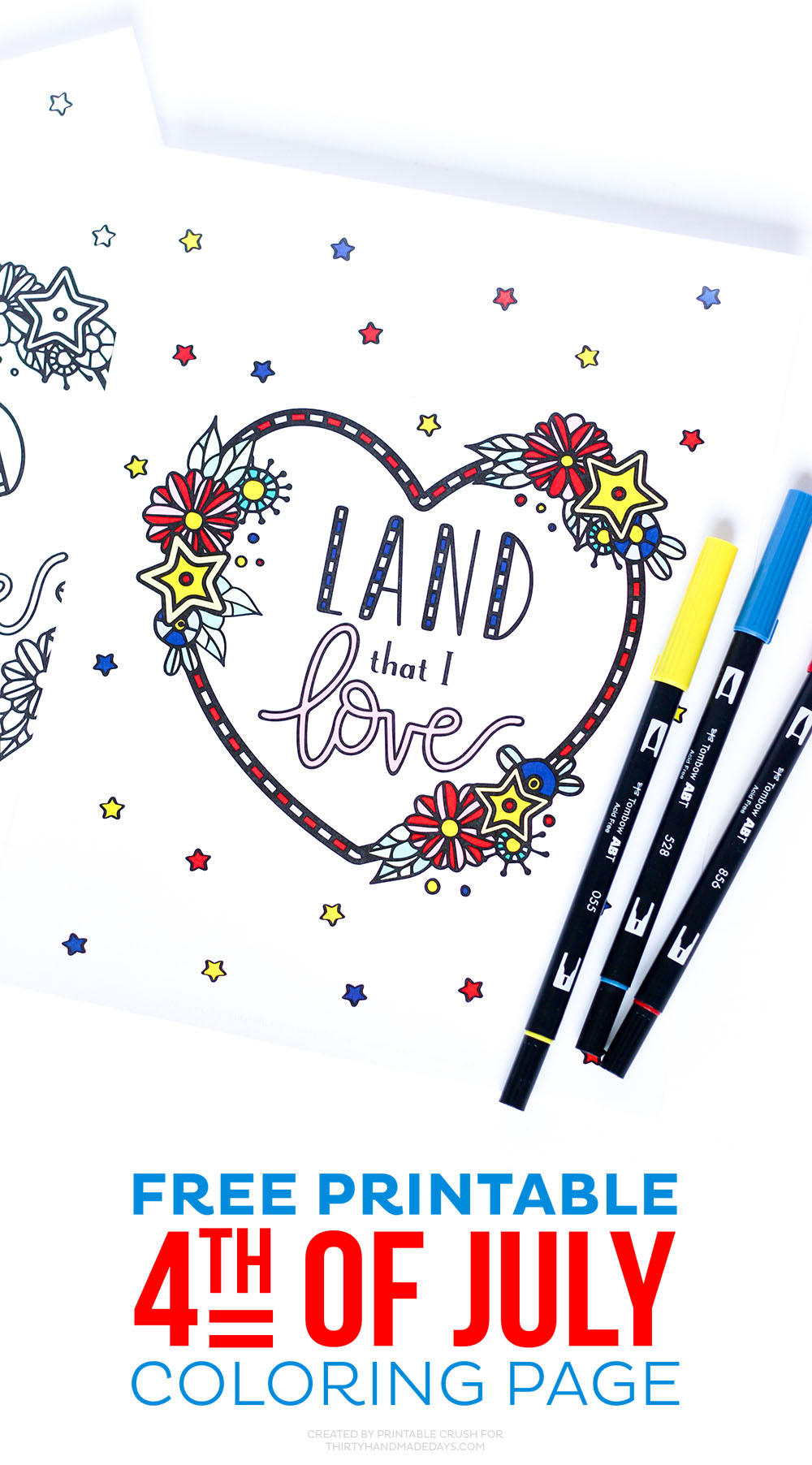 Free Printable Fourth of July Coloring Page