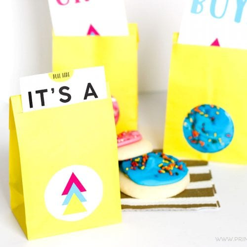 FREE Printable Gender Reveal Party Favors