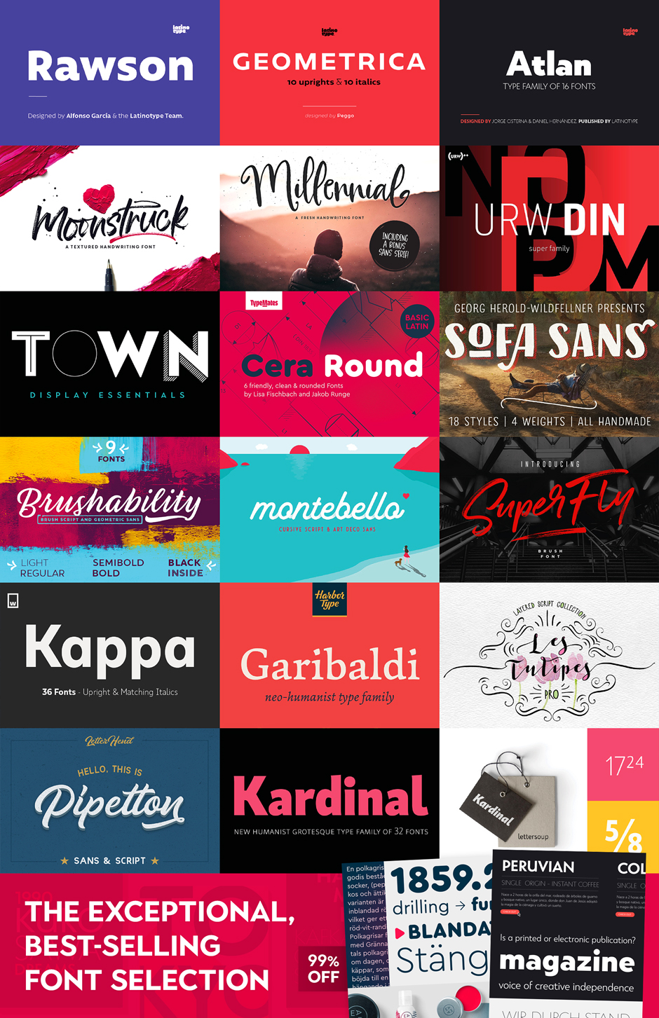 Learn how to pair fonts with these best selling fonts from Design Cuts!