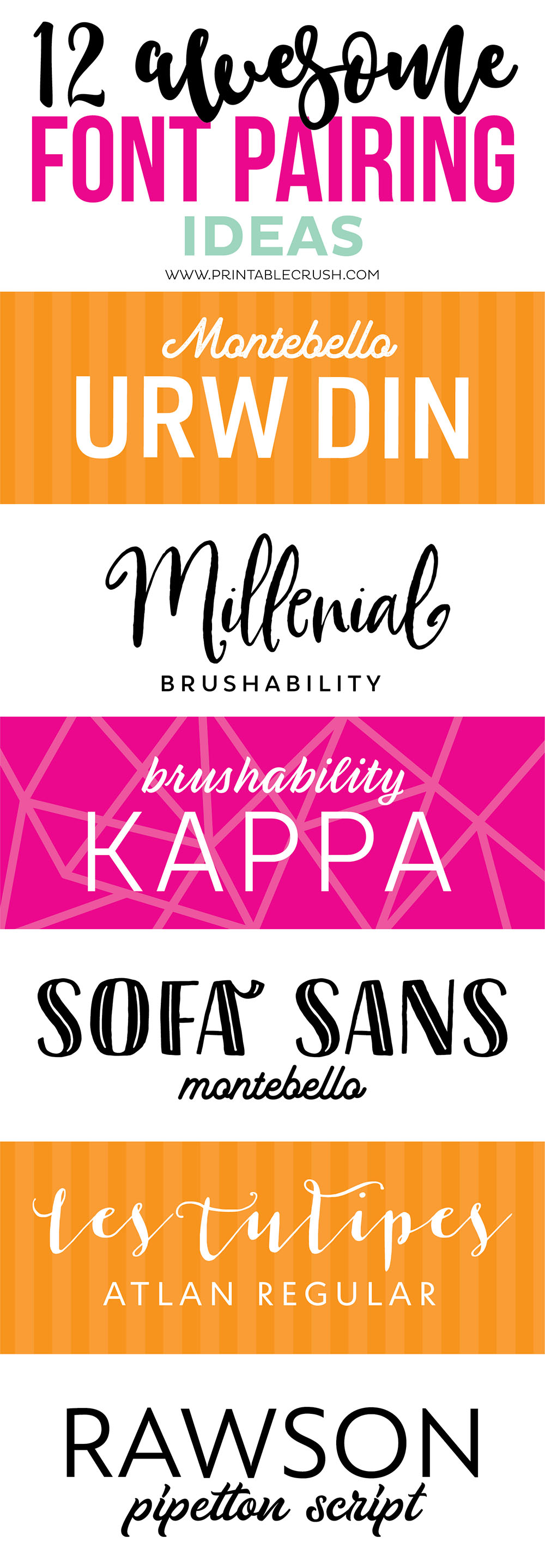 Before you create your own designs, check out some awesome font pairing ideas with script, serif, and sans serif fonts!