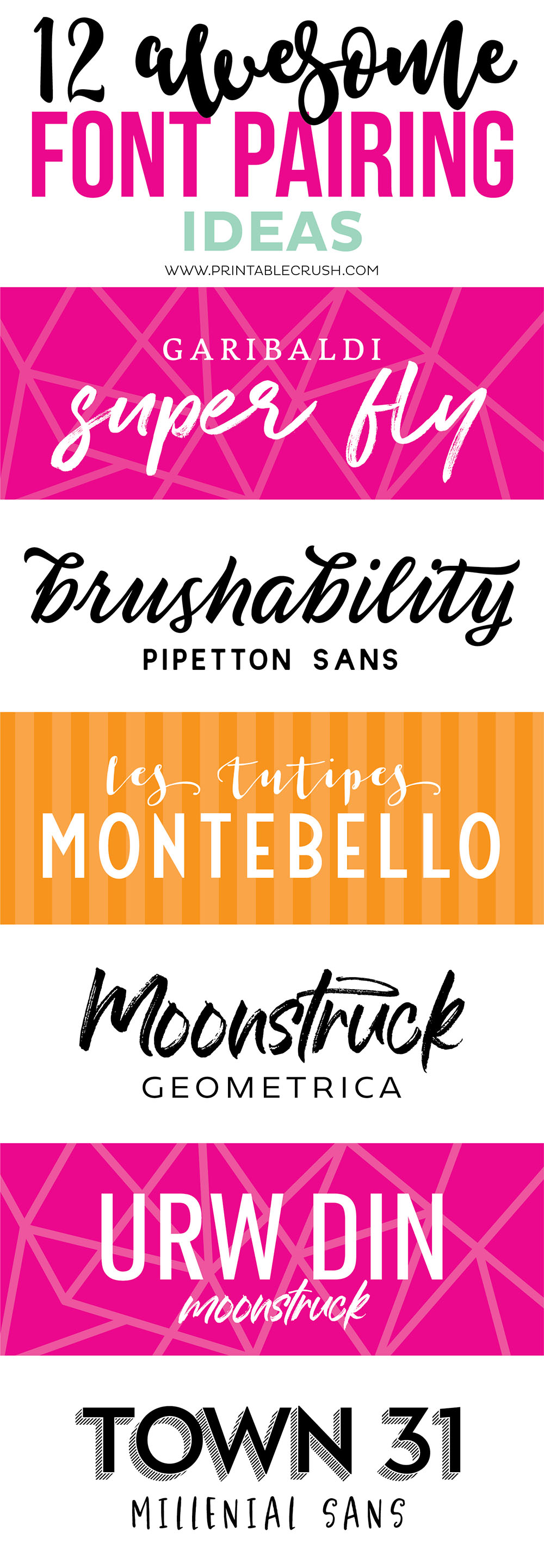 These Font Pairing Ideas are gorgeous! The fonts from Design Cuts pair beautifully!