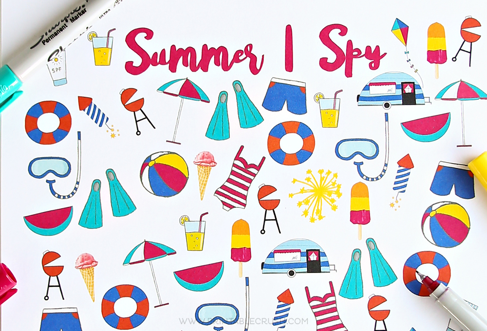 FREE Summer I Spy Printable