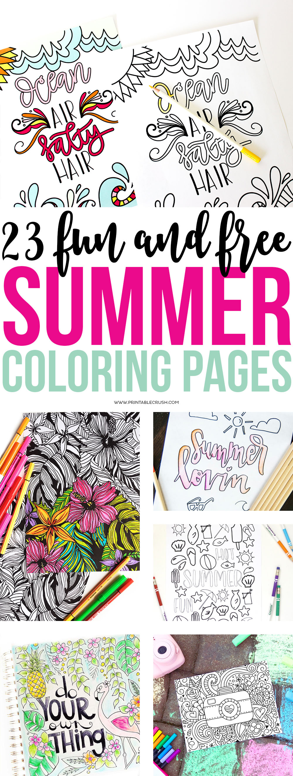 23 Fun and Free Summer Coloring