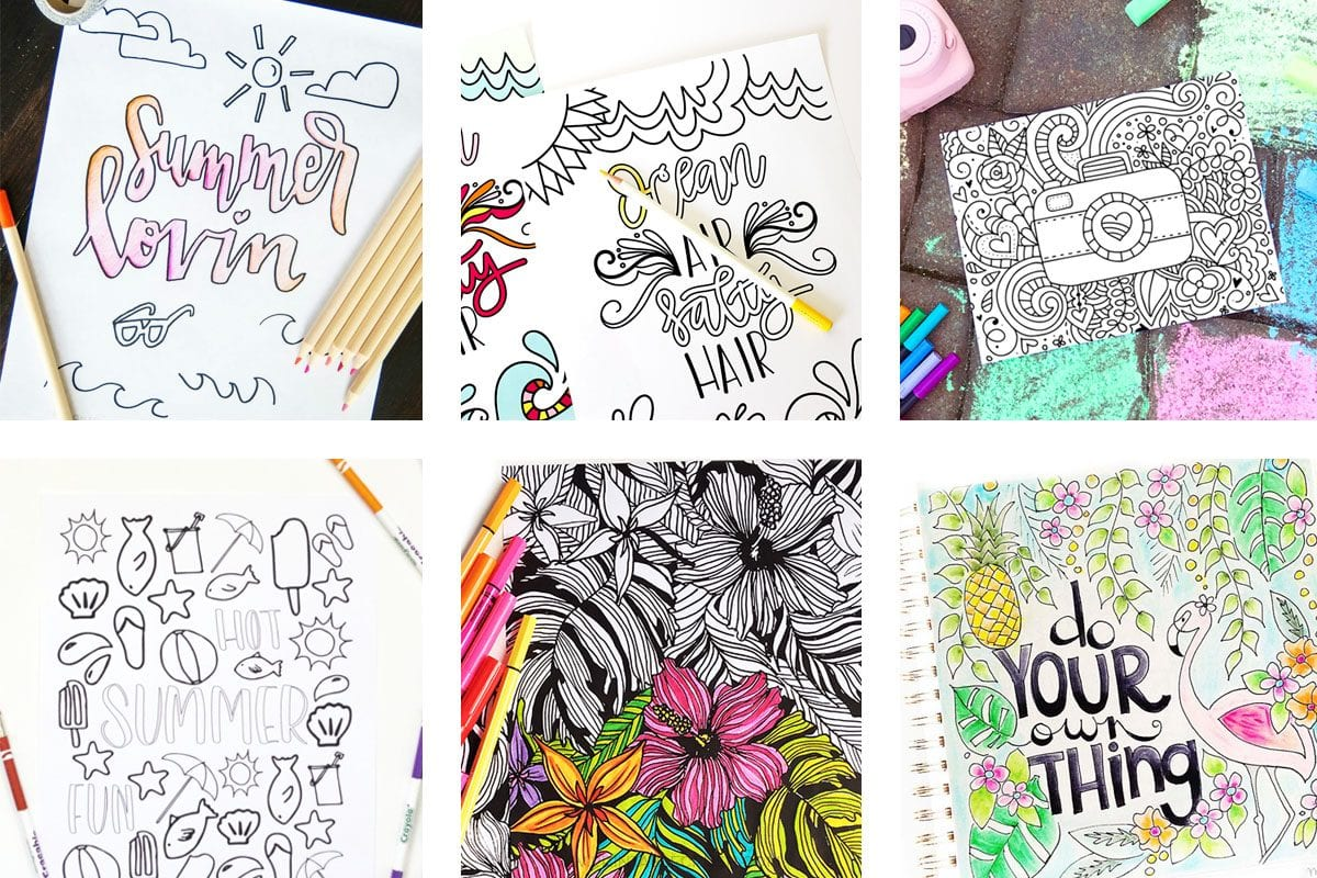 23 Fun and Free Summer Coloring Pages