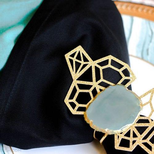 Gorgeous Agate Slice DIY Napkin Rings