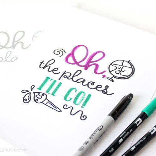FREE Back to School Hand Lettering Practice Sheets
