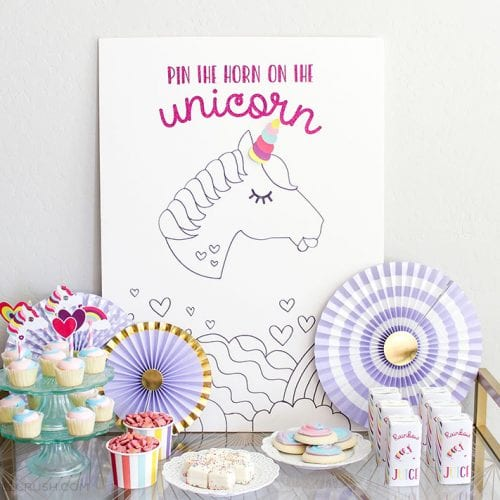 Learn how to Throw a Unicorn Party in One Day with all these budget friendly tips and party details! From party planning and shopping to printables, this post has you covered.