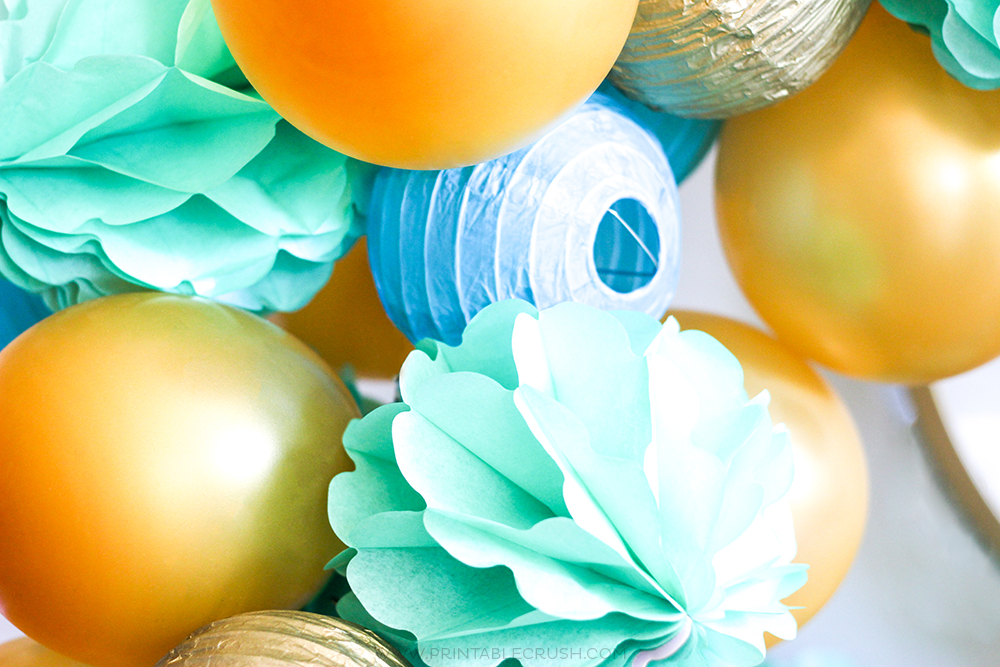 Learn how to make a GORGEOUS Balloon Garland for the perfect statement piece!