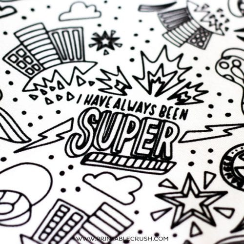 Learn all the details for this Superhero Fabric Design Process from design concept, completion, and see the final result!