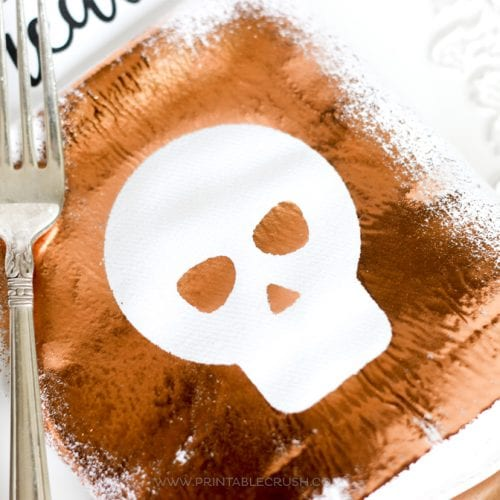 Thermoweb Spray Adhesive Foil Halloween Napkins