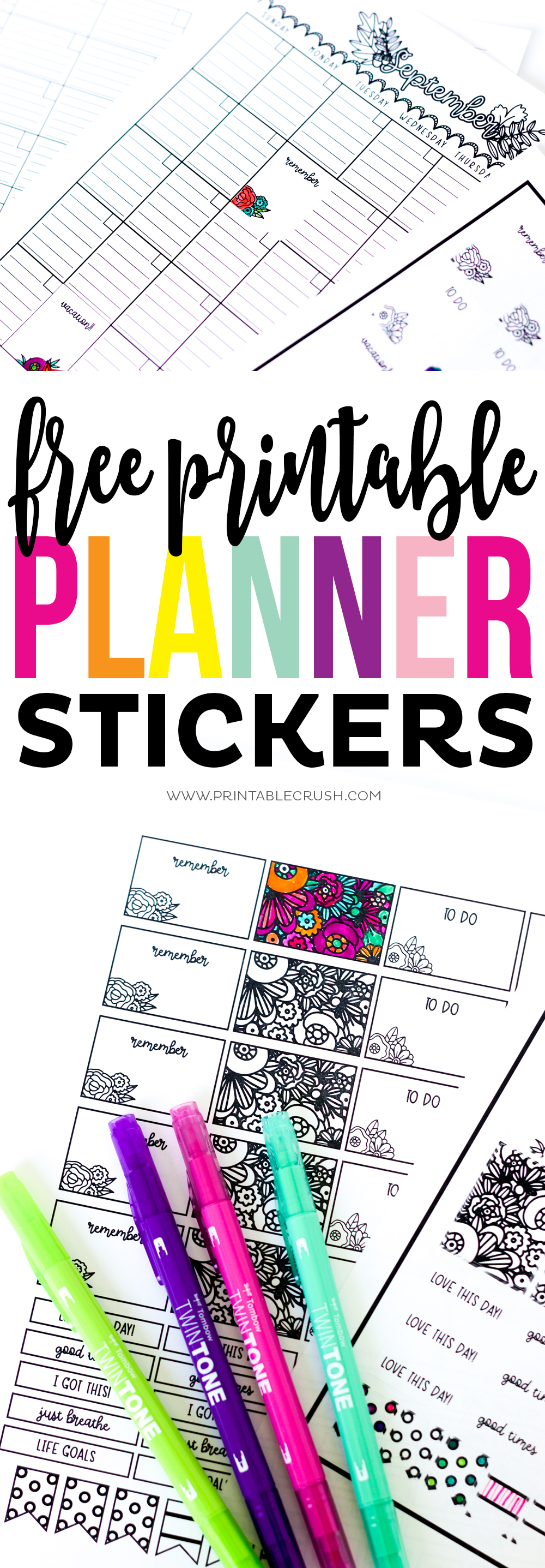 If you're new to Cricut Print and Cut, you'll need to know these tips! Plus, you can download some FREE Printable Planner Stickers!